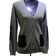 High quality knitted 100% cashmere women's cardigan from Inner Mongolia Shandan Cashmere Products Co.Ltd