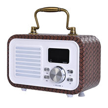 Retro bluetooth speaker, wireless bluetooth speaker in rechargeable lithium battery from Shenzhen E-Ran Technology Co. Ltd