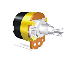 China 17/24mm Rotary Potentiometer with 2000 Min Lifespan for Car Audio/Home Appliances/CD/MD Players