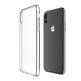 China Ultra-slim Scratch-resistant Clear Case with Clear Back Panel, for iPhone X