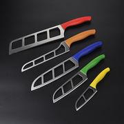 China 5-piece promotion knife set, anti slip air blade knives, pass LFGB , FDA test
