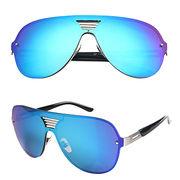 Colorful reflective oversize sunglasses TAIZHOU YINJIN GLASSES CO.,LTD.