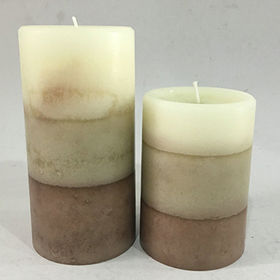 Rustic candles, available in various sizes and colors from Lighting Star Crafts DL Co. Ltd
