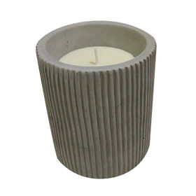 China Scented Candles, Candles in Cement Vessel, Candles/Concrete Container