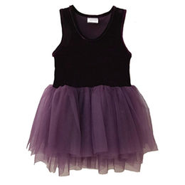 Girls' ballet dress made of nice velvet and soft tulle from Juxian Xindi Industry Trade Co,LTD