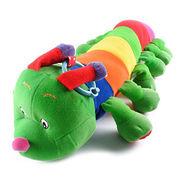 China Plush Colorful Caterpillar Educational Toy