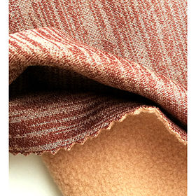 Taiwan 4-Way Stretch Pique Fleece Fabric with Wicking and Anti-pilling