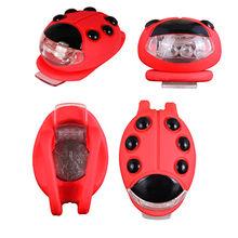 China Creative ladybird shape bright silicone LED bicycle light bike wheel light