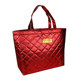 China Nonwoven bag, with quilted plaid, made of double layer non-woven fabric