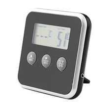 China Digital oven thermometer & timer baking cooking food thermometer for BBQ grill with probe