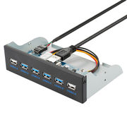6 Port USB 3.0 and USB 2.0 Hub 5.25 inch Custom Computer Case Front Panel from