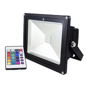 china wireless remote control rgb led flood light christmas color changing for outdoor ip65 50w