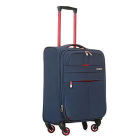 5bc687575 4-spinner wheels softside polyester EVA luggage new design travel luggage 19