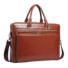 China Leather Briefcase Shoulder 15.6 inch Laptop Business Vintage Slim  Messenger Bags for Men and Women c6a14aa187926