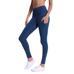 9afddaa4697b5 China Women's sports pants ladies fitness solid yoga pants leggings for  women with pockets for women ...