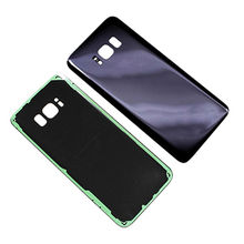 Replacement rear back glass housing battery Door cover with Adhesive Camera lens For Samsung s8 from