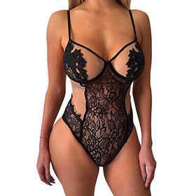 15e9f902a8 Ropa interior Appliqued mujeres atractivas del peluche del mono de la ropa  interior del cordón de