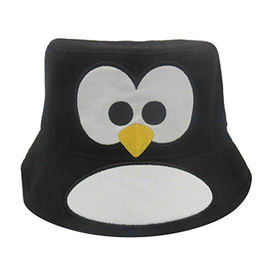 China Children Embroidery Penguin Bucket Hat ... 2a7a1022bc6f