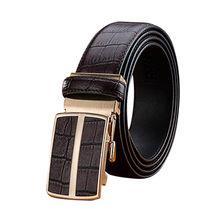 Fineser Mens Belts Leather Ratchet Dress Belt with Automatic Sliding Buckle 35mm Wide