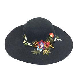 d772a3c8e2a Flower Patch 100% wool felt wide brim dome hat