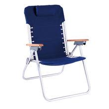 1ba174e24ecb Aluminum folding beach chair with pillow, with solid wood armrest,  adjustable backrest, carry
