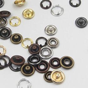 9mm Gold Grass Prong Snap Button