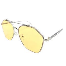 7e9fce158c Gafas de sol de acrílico de las mujeres UV400 de los vidrios de Sun del  marco metálico de la lente de la tendencia de la moda del diseño de Italia