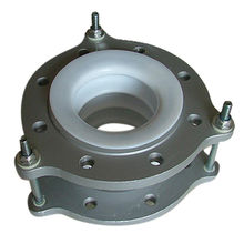 93fe5f0124d1 Convoluted teflon expansion joint Bellow, molded white PTFE, carbon steel  flange with tie rods