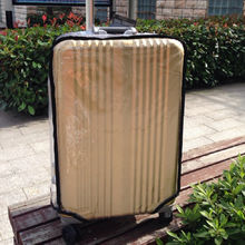 Travel Luggage Cover Weave Knit Stripes Red Brown White Suitcase Protector