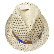 Natural Hollowed Straw Fedora Hat from  Ebolle Fashion Accessories Co. Ltd