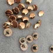 China Shiny Plated Plastic ABS Shank Buttons for Clothing