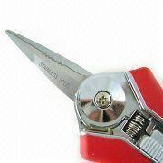 Taiwan Heat-treated Blade Needle Nose Pruning Garden Scissors with Zinc Alloy Handle