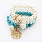 crystal colorful beads personalized bracelets chea from  HK Yida Accessories Co. Ltd