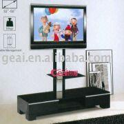 China Modern Tv Stand Glass Plasma Lcd Tv Stand / Tv Cabinet Gs005