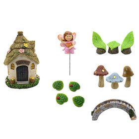PolyresinMiniature Fairy Garden Dollhouse from  Quanzhou Leader Industry Limited