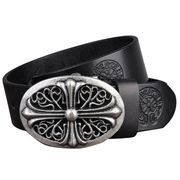 Men's Genuine Black Leather Belt from  Chanch Accessories International Co. Ltd