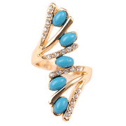 fashion cute gold plated alloy Knuckle ring from  HK Yida Accessories Co. Ltd