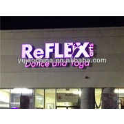 China Store front door fluorescent channel letters with LED
