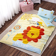 China Made in china 100% cotton comfortable cute cartoon printed baby crib bedding set