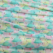 China 100D printed chiffon fabric, made of 100% polyester
