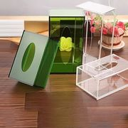China Green Acrylic Tissue Box Holder