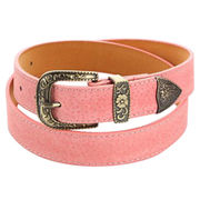 Women's Pink Lichee Pattern Leather Belts from  Chanch Accessories International Co. Ltd