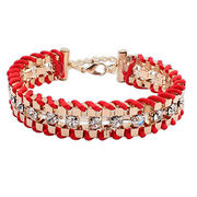 National wind weave a diamond bracelet Ruili fashi from  HK Yida Accessories Co. Ltd