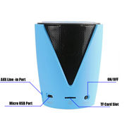 China Tf card portable bluetooth speaker PA system with microphone