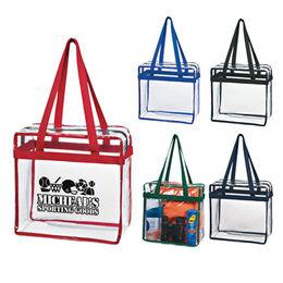 Clear PVC Shopping Bag Tote from  Xiamen Dakun Import & Export Co. Ltd