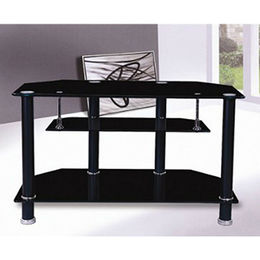 Modern tempered glass TV table from  Langfang Peiyao Trading Co.,Ltd