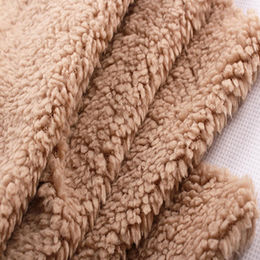 100% Polyester Sherpa Velvet Fabric from  Suzhou Best Forest Import and Export Co. Ltd