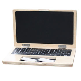 Children's educational wooden chalkboard laptop from  Wenzhou Times Co. Ltd