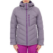 Insulated side panels windstopper solid color ladies' padded winter jacket, outer wear