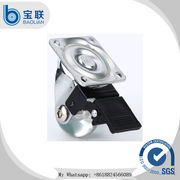 China Modern small transparent roller ball side brake caster